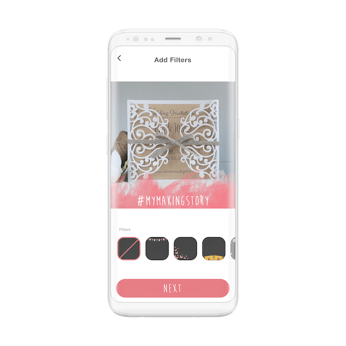 The Sizzix App custom image filters